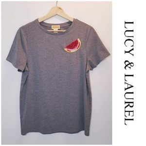 Lucy & Laurel Beaded Watermelon Tshirt